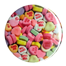 Candy Hearts Pocket Mirror