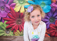 Vinyl Photography Backdrop - Kids Backdrop - Floral Photo Backdrop - Rainbow Flower - Exclusive Design - Item 1934