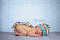 Light Blue Ornate Tile Backdrop – Baby Blue Photography Backdrop - Exclusive Design – Item 1682