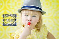 Yellow Tile Backdrop – Children's Photography Backdrop - Ornate Tile - Exclusive Design - Item 1681