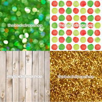 Four Pack Combo for Less - 4 Photography Backdrops - Items 1775, 2135, 157 & 655 - As Seen or Mix and Match