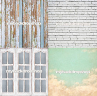 Four Pack Combo for Less - 4 Photography Backdrops - Items 314, 1444, 1773 & 1416 - As Seen or Mix and Match