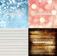 Four Pack Combo for Less - 4 Photography Backdrops - Items 1050, 455, 576 & 1398 - As Seen or Mix and Match