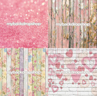 Four Pack Combo for Less - 4 Photography Backdrops - Items 1806, 1796, 1765 & 1808 - As Seen or Mix and Match