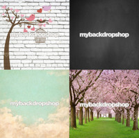 Four Pack Combo for Less - 4 Photography Backdrops - Items 1831, 1833, 1416 & 1654 - As Seen or Mix and Match