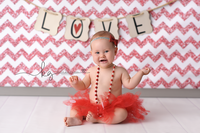 Pink Glitter Chevron Photography Backdrop - Item 2163