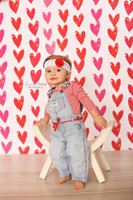 Red and Pink Hearts Photography Backdrop - Item 2276