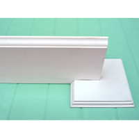 Set of 2 Baseboard Holders - Photography Backdrop Baseboard Holders - White Wood Baseboard Stand