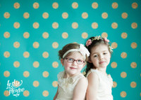 Gold Glitter Dot on Blue Photography Backdrop - Item 2198