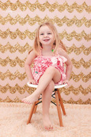 Pink and Gold Glitter Scallop Photography Backdrop - Item 2210