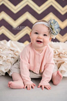 Brown Metallic Gold Chevron Photography Backdrop - Item 2220