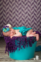 Purple Glitter Herringbone Photography Backdrop for Girls - Item 2265
