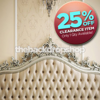 CLEARANCE - VINYL - 8ft x 8ft Vinyl Photography Backdrop - Fancy Tufted Bed Headboard - Item 264