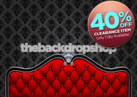 CLEARANCE - CANVAS - 7ft x 5ft Red Headboard Backdrop for Photos - Boudoir Photography Bed Backdrop - Item 1381