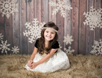 Gold Snowflake Christmas Wood Photography Backdrop - Gold Glitter Snowflake Photo Prop - Item 3027