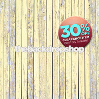 CLEARANCE - VINYL -  7ft x 7ft Buttercream Pale Yellow Wood Floor – Light Yellow Wood Plank Floor – Shabby Chic Wood Floor - Exclusive Design - Item 1871