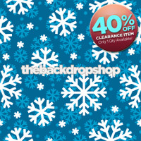 CLEARANCE - VINYL - 4ft x 4ft Christmas Photography Backdrop - Snowflake Photo Backdrop for Pictures - Snow Backdrop - 1030
