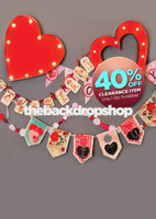 CLEARANCE - POLY - 5ft x 7ft Light Up Hearts Photography Backdrop - Love Banner - Valentine's Day Backdrop - Exclusive Design - Item 1973