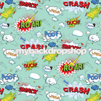 Comic Book Superhero Birthday Party Photography Backdrop - Item 3036