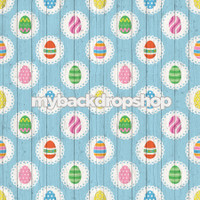 Blue Wood Easter Egg Pastel Photography Backdrop - Item 3037