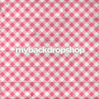 Pink Gingham Wide Plank Wood Print Photography Backdrop - Item 3038
