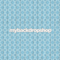 Blue Wood Quatrefoil Photography Backdrop - Blue Tile Backdrop - Item 3044