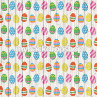 Colorful Easter Egg Wood Photo Backdrop or Floordrop - Item 3045