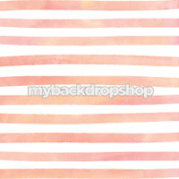 Pink and White Watercolor Stripe Photography Backdrop - Item 3046