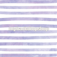 Lavender Purple and White Watercolor Stripe Photography Backdrop - Item 3049