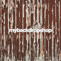Rustic Brown Rust Peeling Wood Photography Backdrop  - Item 3057