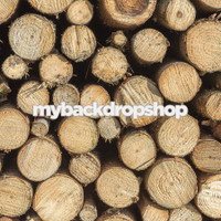 Rustic Light Wood Log End Photography Backdrop - Item 3078