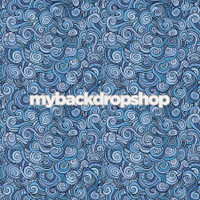 Blue Swirl Stained Glass Photography Backdrop  - Item 3081