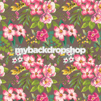 Pink Floral Wallpaper Backdrop for Photos - Item 3087