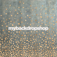 Gold Foil Print Photography Backdrop - Dusty Chalkboard Finish Photo Prop - Item 3104