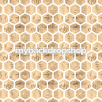 Honey Comb Marble Geometric Photography Backdrop  - Item 3110