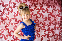 Red Star Photography Backdrop - Prom Photo Backdrop - Distressed White Star Backdrop - Item 3119