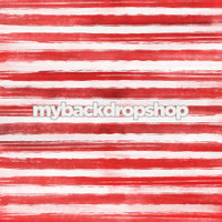 Red and White Watercolor Stripe Photo Backdrop - Item 3120