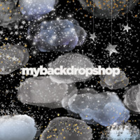 Starry Night Sky Photo Backdrop - Moon and Stars Photography Drop - Item 3135