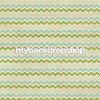 Distressed Teal and Green Chevron Photography Backdrop - Neutral Zig Zag Backdrop - Item 3141