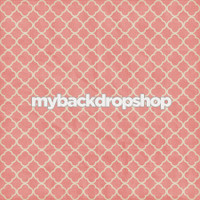 Pink Tile Photography Backdrop - Distressed Quatrefoil Photo Prop - Item 3142