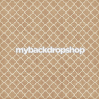 Neutral Tile Photography Backdrop - Distressed Quatrefoil Photo Prop - Item 3146