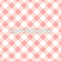 Pink and White Plaid Photography Backdrop - Pink Checkerboard Photo Prop - Item 3155
