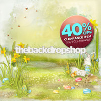 CLEARANCE - VINYL - 5ft x 6ft Easter Photography Backdrop - Photo Backdrop for Easter Pictures - Kids Easter Prop - Item 1840