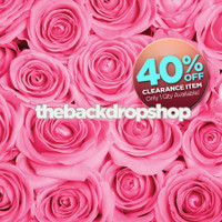CLEARANCE - VINYL -  5ft x 5ft Pink Rose Photography Backdrop - Floral Photo Backdrop for Girls - Valentines Day Photo Background - Item 653