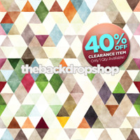 CLEARANCE - POLY - 5ft x 5ft Colorful Watercolor Abstract Photography Backdrop - Neutral Kaleidoscope Backdrop for Photos - Children's Backdrop - Item 3091