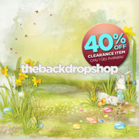 CLEARANCE - VINYL - 6ft x 6ft Easter Photography Backdrop - Photo Backdrop for Easter Pictures - Kids Easter Prop - Item 1840