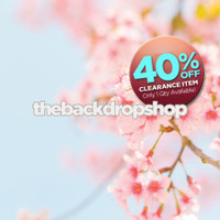CLEARANCE - VINYL - 5ft x 6ft Cherry Blossom Flowers and Branch Photo Backdrop - Tree Limb Photography Backdrop - Item 1628