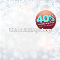 CLEARANCE - VINYL - 5ft x 5ft Christmas Backdrop for Studio Photography - Snow and Snowflakes Background for Pictures - Item 660