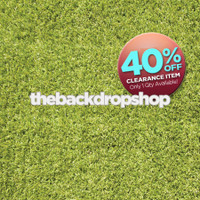 CLEARANCE - VINYL - 6ft x 6ft - Grass Floor Photography Backdrop - Green Grass Floor Drop - Vinyl - Item 2006