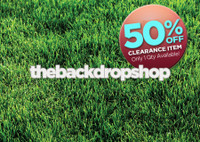 CLEARANCE - VINYL - 7ft x 5ft Grass Photography Backdrop or Floordrop - Outdoors Photography Floordrop - Item 106